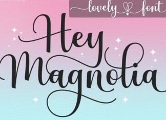 Hey Magnolia Calligraphy Font