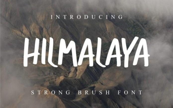 Hilmalaya Script Font