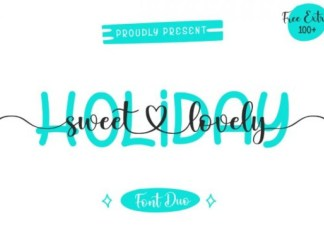 Holiday Sweet Lovely Calligraphy Font