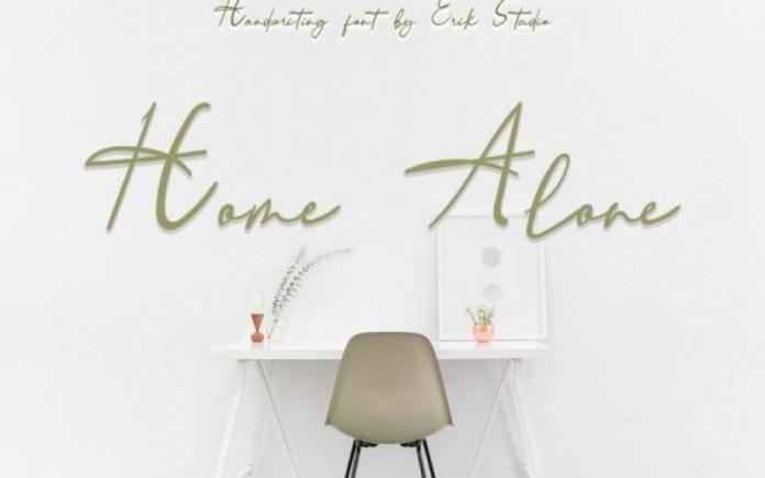Home Alone Handwritten Font
