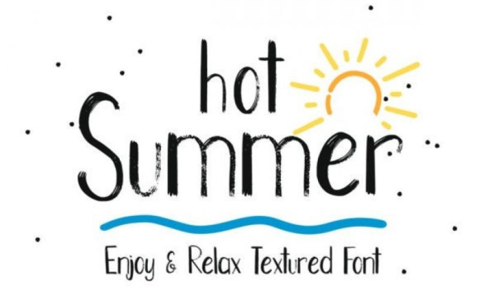Hot Summer Display Font