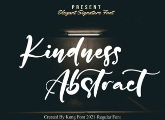 Kindness Abstract Script Font