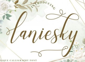 Laniesky Calligraphy Font