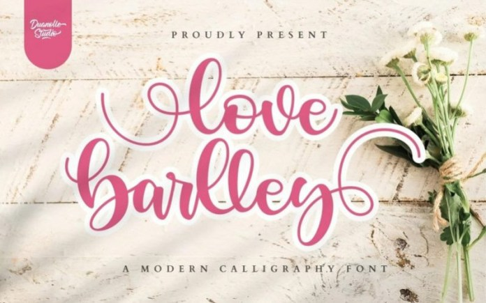 Love Barlley Calligraphy Font