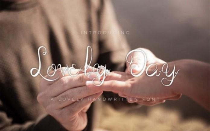 Lovely Day Script Font