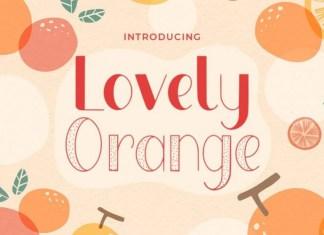 Lovely Orange Display Font