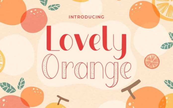 Lovely Orange Display Font