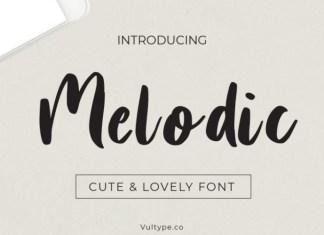 Melodic Script Font