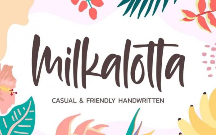 Milkalotta Script Font