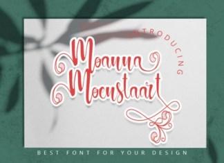 Moanna Moenstaart Font