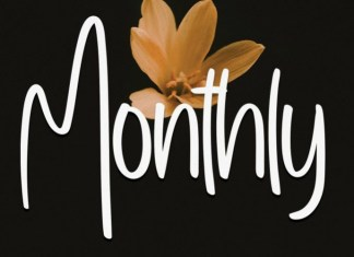Monthly Font