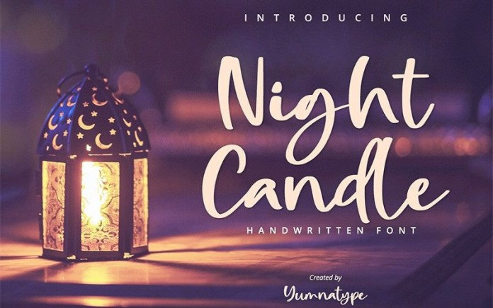 Night Candle Font