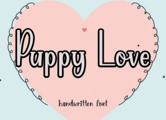 Puppy Love Display Font
