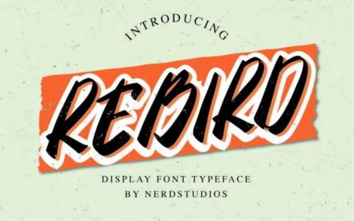 Rebird Brush Font