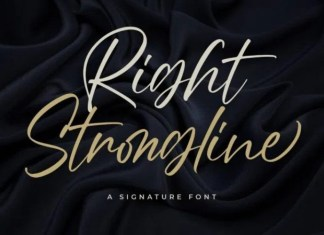 Right Strongline Script Font