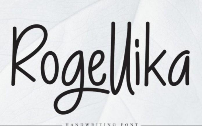 Rogellika Handwritten Font