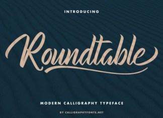 Roundtable Script Font
