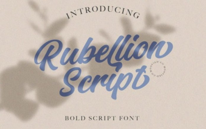Rubellion Script Font