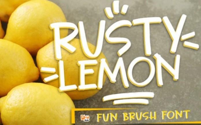 Rusty Lemon Display Font