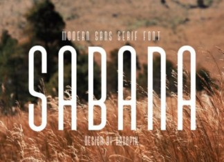 Sabana Display Font