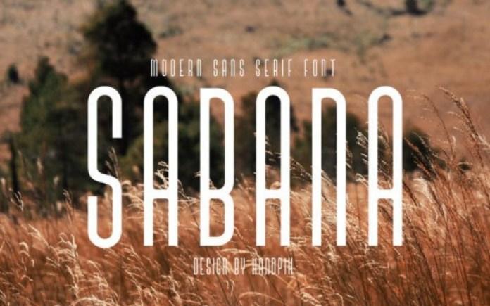 Sabana Display Font