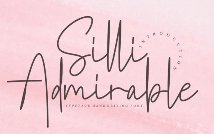Silli Admirable Font