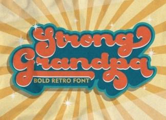 Strong Grandpa Script Font
