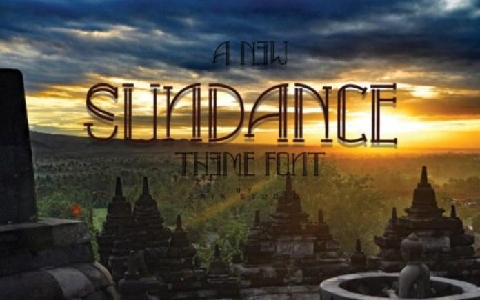 Sundance Display Font