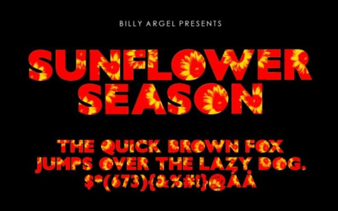 Sunflower Season Display Font
