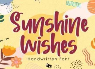 Sunshine Wishes Brush Font