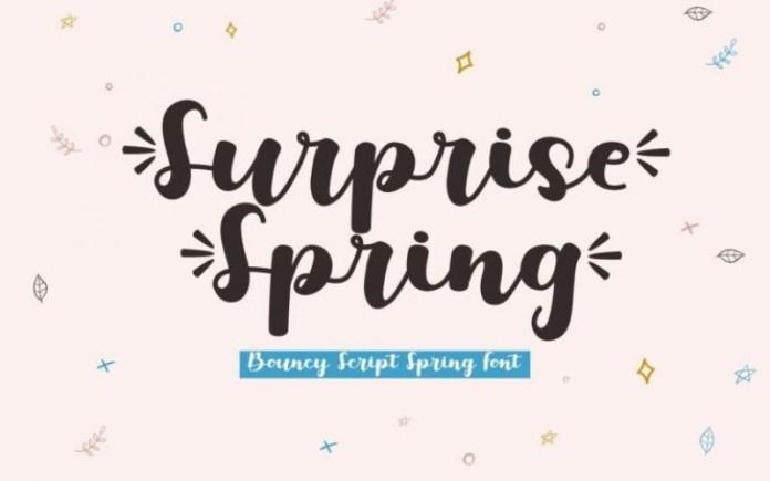 Surprise Spring Script Font