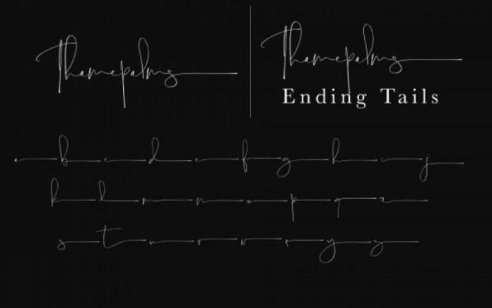 Thamepalms Handwritten Font