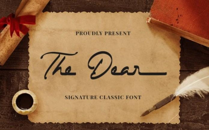 The Dear Script Font