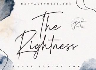 The Rightness Handwritten Font