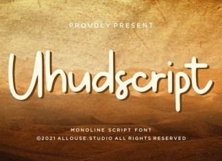 Uhudscript Handwritten Font