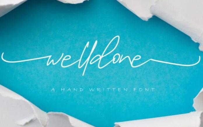 Welldone Handwritten Font