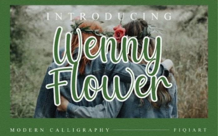 Wenny Flower Script Font