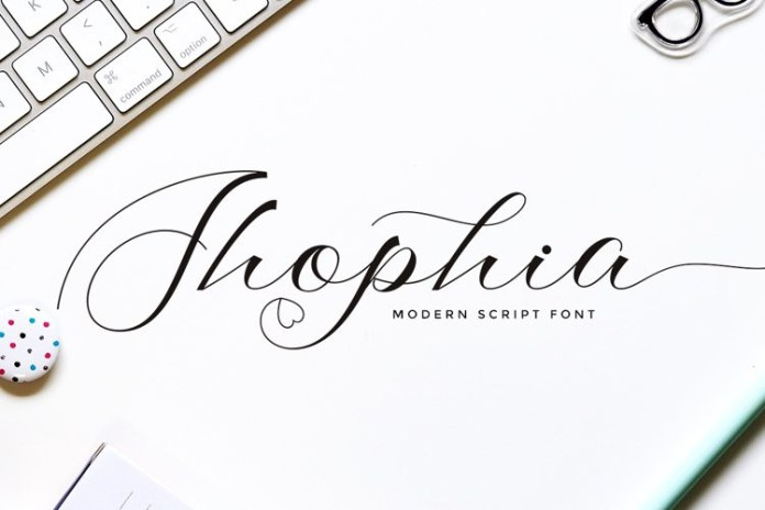 Shophia Calligraphy Font