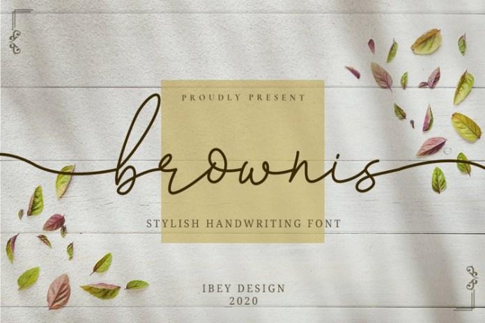 Brownis Script Font