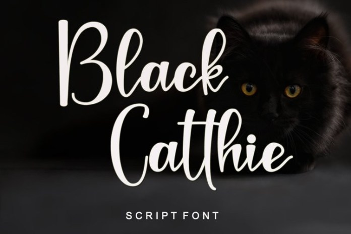 Black Catthie Script Font