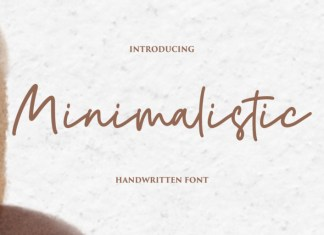 Minimalistic Handwritten Font