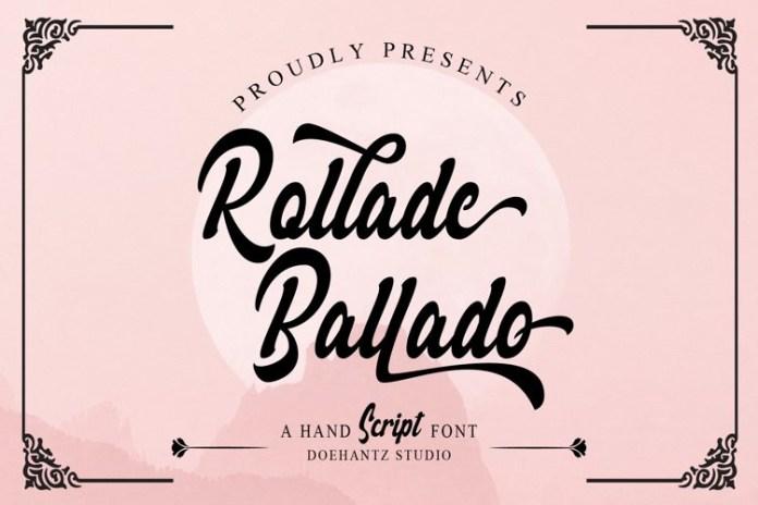 Rollade Ballado Script Font