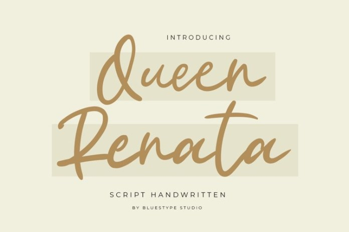 Queen Renata Handwritten Font