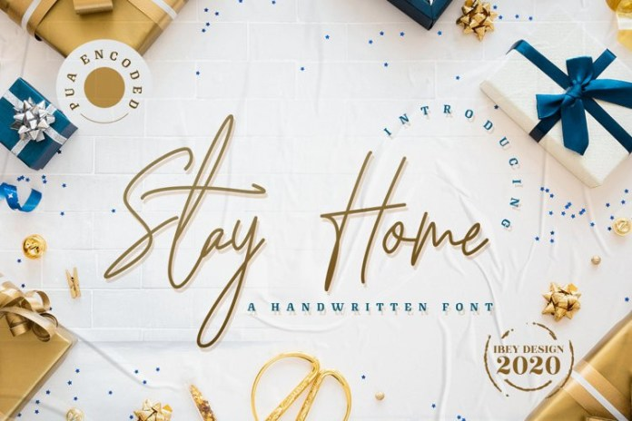 Stay Home Handwritten Font