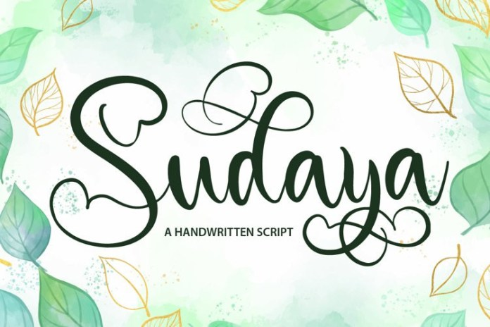 Sudaya Calligraphy Font