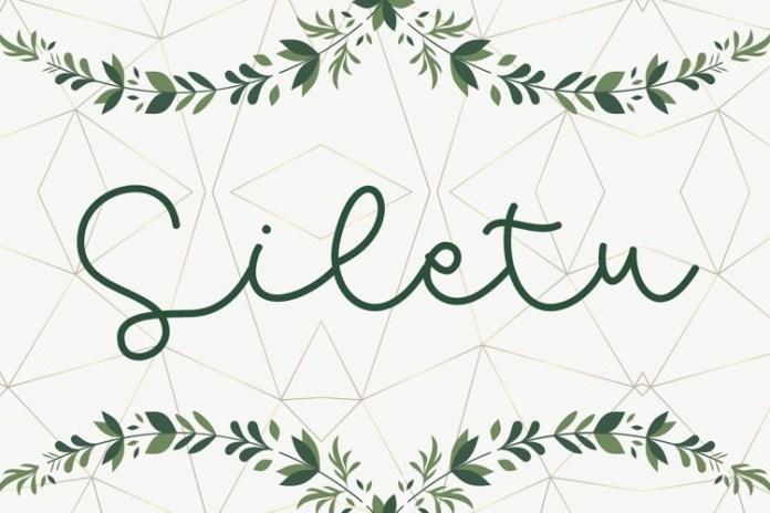 Siletu Handwritten Font