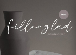 Fillerglad Handwritten Font