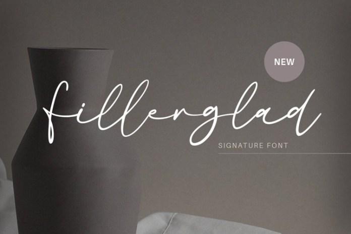 Fillerglad Handwritten Font