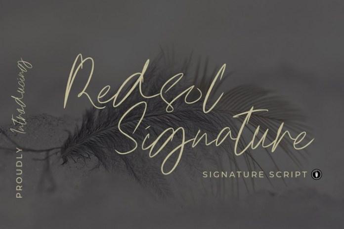Redsol Signature Script Font