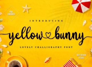 Yellow Bunny Calligraphy Font